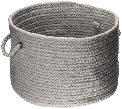 Colonial Mills WL18 18 by 18 by 12-Inch Bristol Storage Basket, Gray