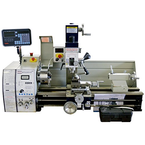 "11"" x 28"" High Precision Variable Speed Combo Lathe W. DRO - Combo Lathe Mill Drill BPD290VG"