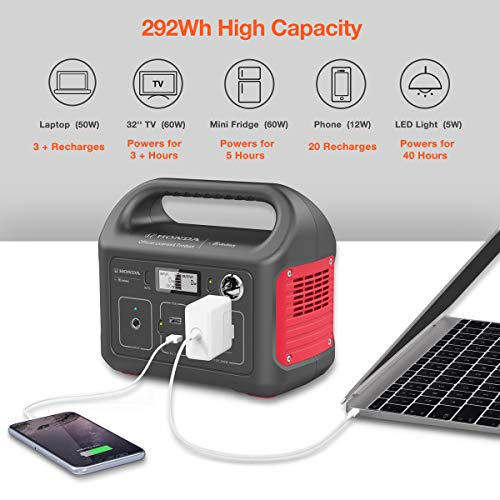 Honda by Jackery HLS 290 Portable Lithium Battery Mobile Power Station, Emergency Power Pack and External Battery Charger, Gas-Free Generator Alternative, Honda Official Licensed Product by Jackery by Jackery (Image #2)