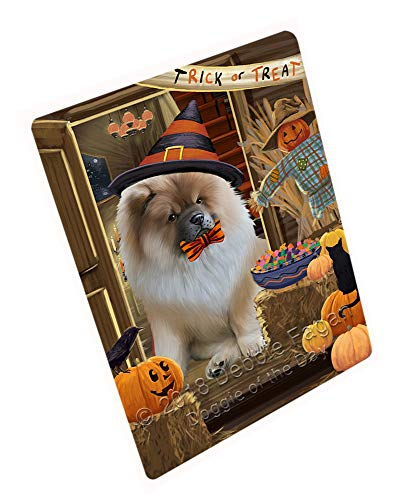 Enter at Own Risk Trick or Treat Halloween Chow Chow Dog Cutting Board C63708 (Small 12