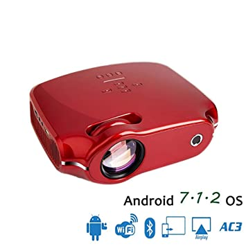 WHQ Proyector LED para Full HD 4K * 2K Video Proyector Android 7.1 ...