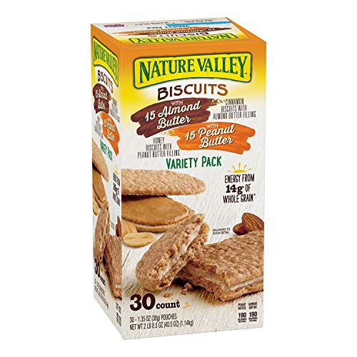 (Nature Valley Biscuit Sandwich Almond Butter & Peanut Butter ( 30 ct ))