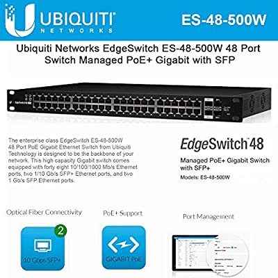 EdgeSwitch ES-48-500W 48 Port Managed PoE+ Gigabit Switch with SFP