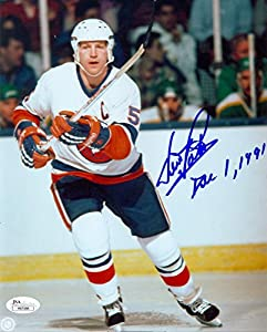 Denis Potvin Autographed Picture - Ny Inscribed 8x10 - JSA Certified - Autographed NHL Photos