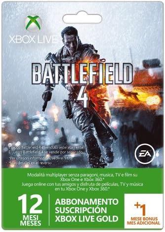 Microsoft - Tarjeta Live De 12 Meses + 1 Mes Battlefield 4 (Xbox ...