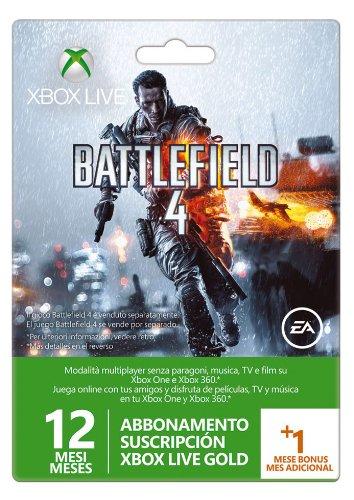 Microsoft - Tarjeta Live De 12 Meses + 1 Mes Battlefield 4 ...