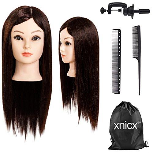 🥇 xnicx 75% Pelo real cabeza maniqui peluqueria cabeza de maniqui cabeza maniqui peluqueria cabezas para peinar peluqueria