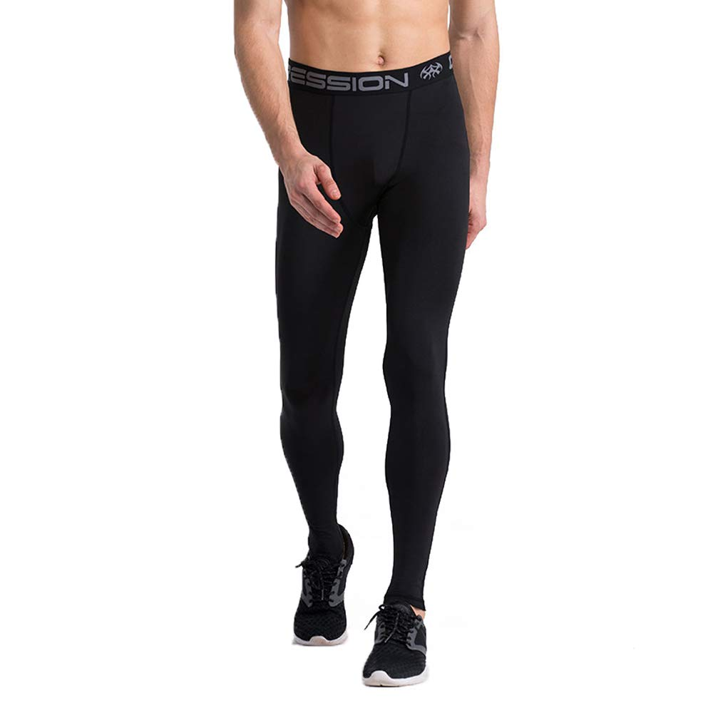 Bwiv Pantaloni Termica Uomo Sportivi Lunghi Calcio Base Layers a Compressione per l'inverno