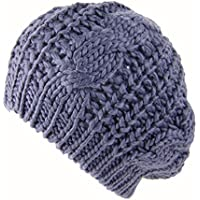 QIUUE Winter Warmer Stretch Knitted Hairball Women's Beanie Hats