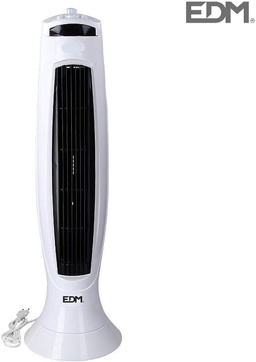 Ventilador de torre 45W 76cm con temporizador EDM 33971: Amazon.es ...