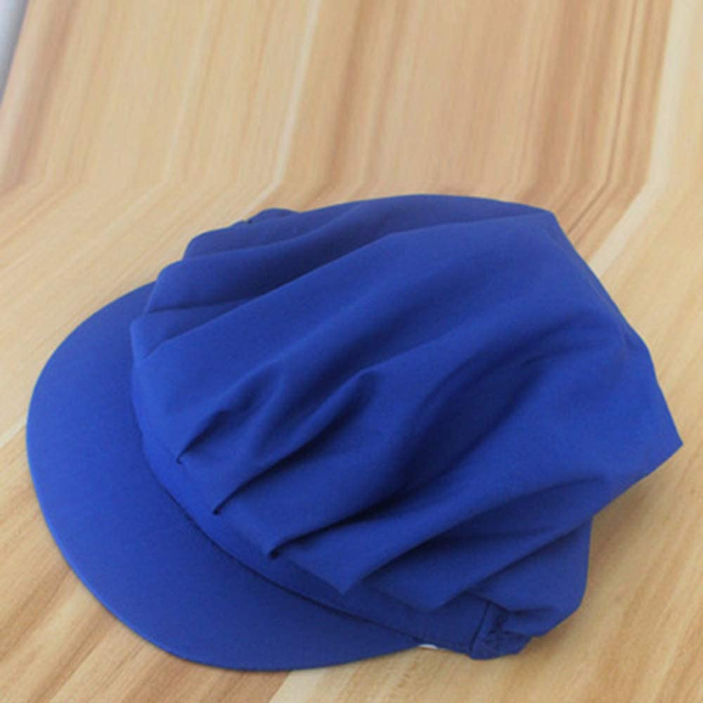 BYBYCD Hotel Cook Cap Restaurants Accessories Men Women Chef Hat Dustproof Cooking Cap Breathable Work Uniform Elastic Kitchen Hat