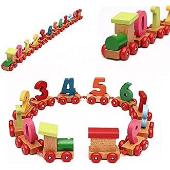 [Free Shipping] Baby Toddler Child Wooden Digital Small Train Number Educational Toy // Bebé BEBÉS pequeño tren 0-9 juguete educativo números digitales madera