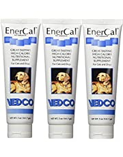 EnerCal High Calorie Nutrition Suppliment For Cats and Dogs 5oz Tube (3 Pack)