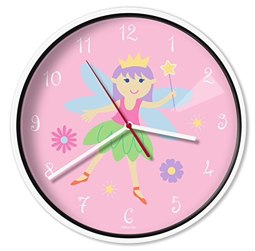 Olive Kids Fairy Princess Wall Clock, One Color, One Size (Clock Wall Princess)