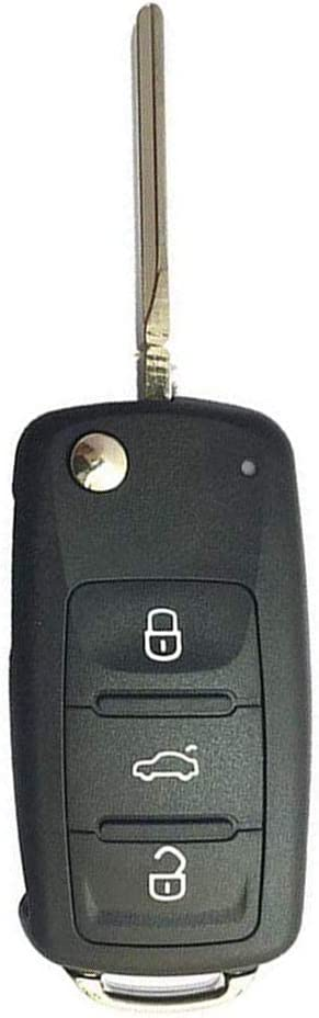BESTHA 3 Button Flip Folding Keyless Entry Remote Control Car Key Fob For Volkswagen Replacement 5K0837202AD 433 MHZ