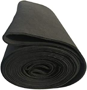 SOFIALXC Carbon Graphite Felt High Temp Welding Protective Blanket-thick 2mmx100x100mm
