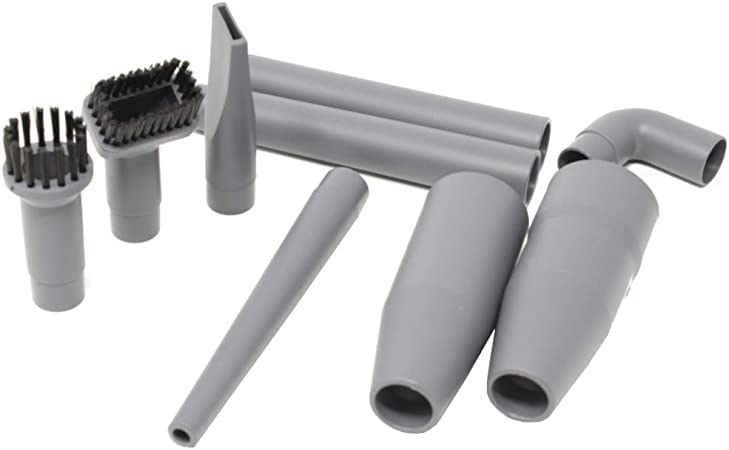 Juego de accesorios para aspiradora de 9 piezas, adaptador, conector, cepillos, para tubos con un diámetro de 32 a 35 mm: Amazon.es: Hogar