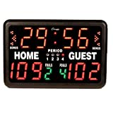 Champion Sports T90R Multi-Sport Tabletop Indoor Electronic Scoreboard with Remote Control Included