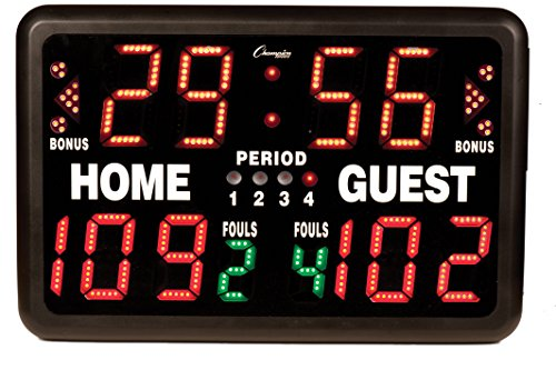 Champion Sports Multi-Sport Tabletop Indoor Electronic Scoreboard with Remote Control Included by Champion Sports