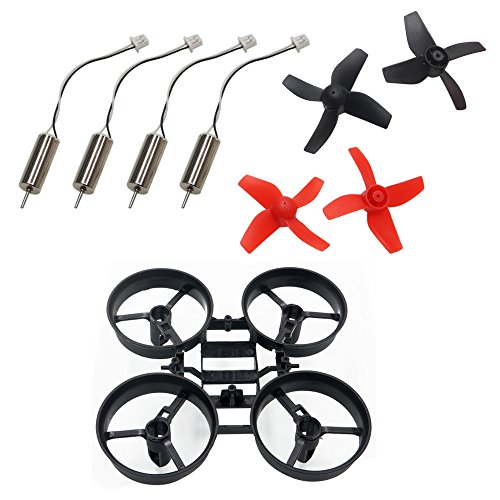 ARRIS 65mm Micro FPV Racing Drone Frame Kit W/ 2 Pairs 4-Blades Props and 4 Coreless Motors for Poke FPV Mini RC Quadcopter
