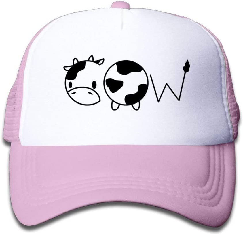 DPASIi Cow 1 Youth Toddler Mesh Hats Boy and Girl Baseball Trucker Caps