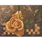 Canvas Prints Of Oil Painting ' a Yellow Rose ' , 12 x 16 inch / 30 x 40 cm , High Quality Polyster Canvas Is For Gifts And Game Room, Hallway And Living Room Decoration, floral
