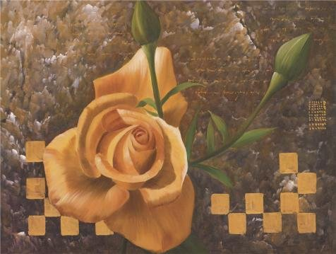 High Quality Polyster Canvas ,the Amazing Art Decorative Canvas Prints Of Oil Painting 'a Yellow Rose', 20x27 Inch / 51x67 Cm Is Best For Foyer Decor And Home Gallery Art And Gifts