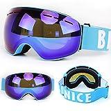 Ski Goggles Anti-Fog Lens, Big Spherical Skate Snowmobile Snowboard Goggles,Eyewear Snow Sports Protective Safety Glasses