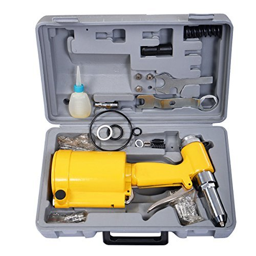 Goplus Pneumatic Air Hydraulic Pop Rivet Gun Riveter Riveting Tool w/ Case - 3/32