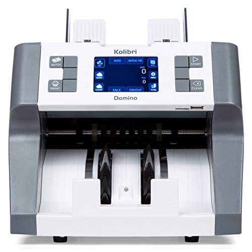 Domino Business Grade Bill Counter, Sorter and Reader with Counterfeit Detection by Kolibri