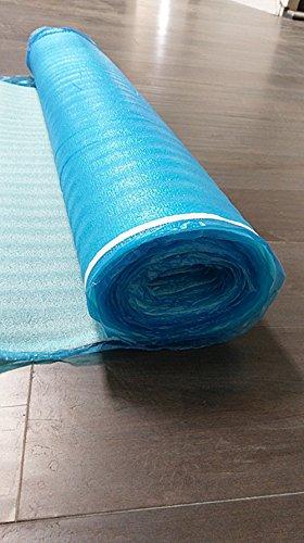 (Blue Foam Underlayment 3 in 1 Laminate Flooring 2mm Thick 200 sqft (1 Roll) Padding laminate floor underlayment, wood flooring with underlayment, laminate subfloor basement, flooring underlayment)