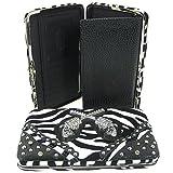Western Cowgirl Guns Zebra Flat Wallet Clutch Purse (Black), Bags Central
