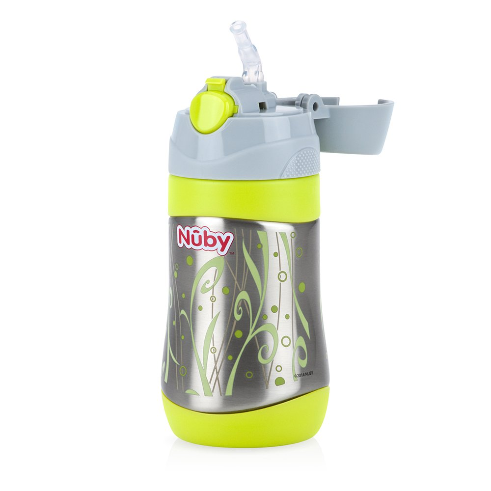 Nuby - Vaso de acero inoxidable, color verde Nuby UK 80222