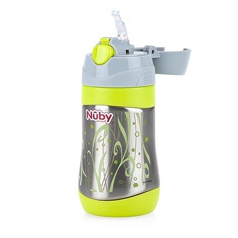 Nuby - Vaso de acero inoxidable, color verde
