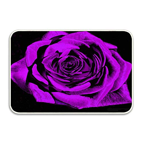 Puyrtdfs Color Muse Majestic Rose Violet 22x22 Art Deco Hello Front Welcome Entrance Door Mats for Indoor Outdoor Entry Garage Patio High Traffic Areas Shoe ()