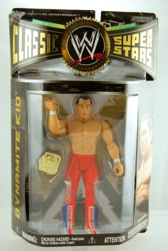 Super Star Belt (WWE - 2008 - Classic Super Stars - Series 20 - Dynamite Kid Action Figure - w/ Championship Belt - Limited Edition - Mint - Collectible)