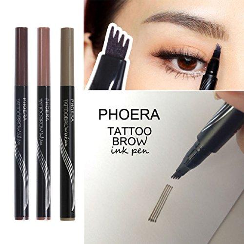 New Eyebrow Pencil, Coerni Fork Tip Easy Makeup Waterproof Eyebrow Pen