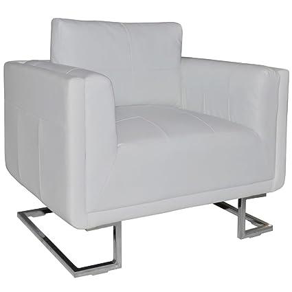 Amazon Com Vidaxl Contemporary Cube Club Chair Accent Armchair Real