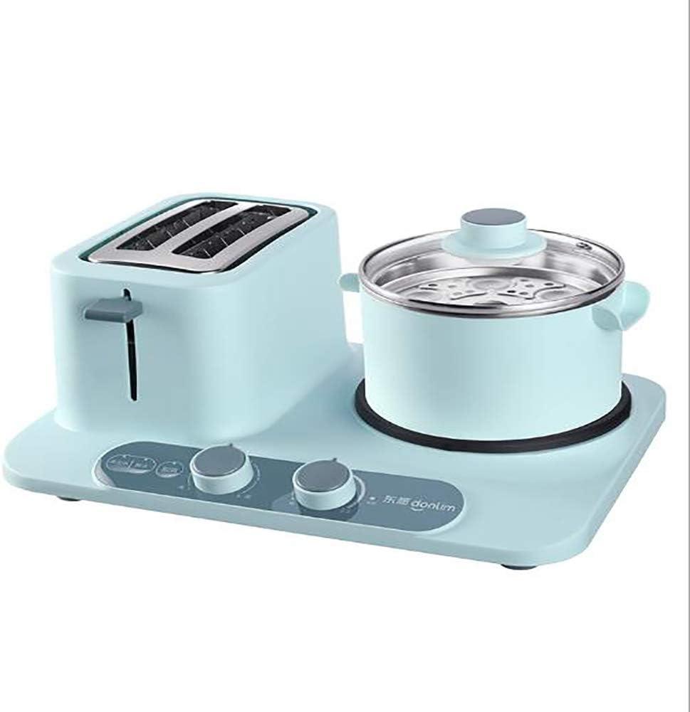LDQLSQ Máquina De Desayuno Multifunción Hogar máquina de Tortilla de Huevo escalfado(1.2L),Azul