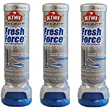 (3x) Kiwi Fresh Force Sneaker Shoe Deodorizer Odor Protection Scent Freshner