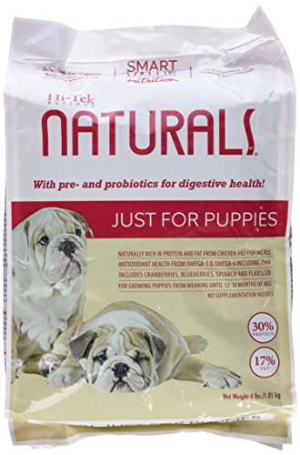 Hi-Tek Rations Naturals Just for Puppies Dry Puppy Food, 14 x 8 x 4'