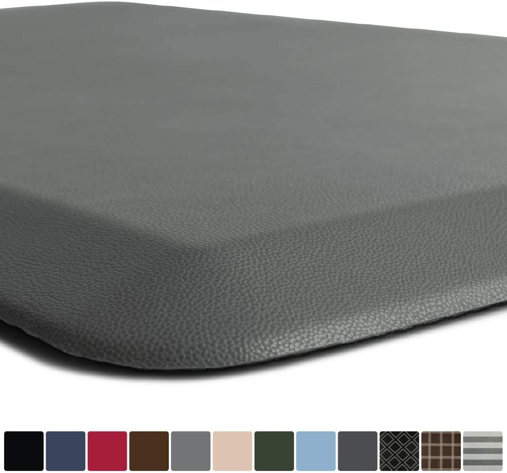 GORILLA GRIP Original Premium Anti-Fatigue Comfort Mat, Phthalate Free, Ships Flat, Ergonomically Engineered, Extra Support and Thick, Kitchen and Office Standing Desk, 39x20, Gray
