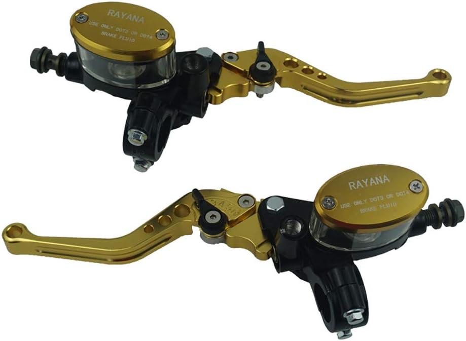 Color : Amarillo Motocicleta Universal 22 mm 7//8  Cilindro de Freno Dep/ósito hidr/áulico Palanca de Embrague Ajustable Cyclist store