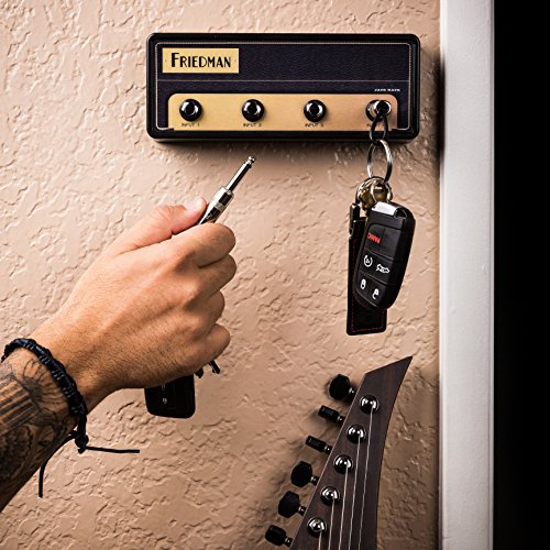 uitar Amp Key Holder | Hang Your Keys Like A Rockstar | By Pluginz Key Chains (BE-100 & 4 Key Rings) (Jack Rack)