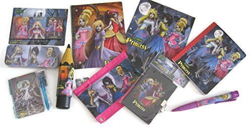 Once Upon a Zombie Princess School Set Notebooks Crayons Pencil Case Bundle of 10]()