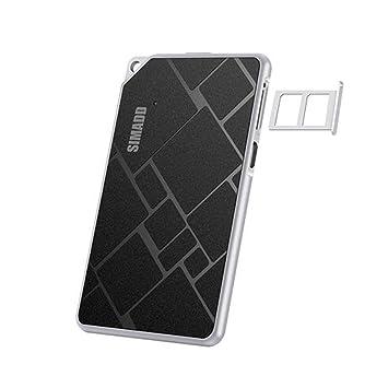 FAN SONG Adaptador de 2 SIM, Bluetooth 4.0 SIM Tarjeta Espera con 2 Ranuras para iPhone/iOS Dispositivos, Negro