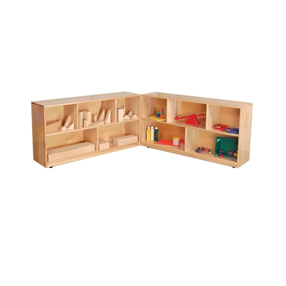 Wood Designs Kids Play Toy Book Plywood Organizer Wd13720 Folding Storage, 36''H, Maple