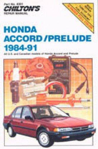(CH8301 Chilton Honda Accord Prelude 1984-1991 Repair Manual )
