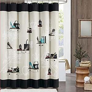 Amazon Com Fashionista Shower Curtain Home Amp Kitchen