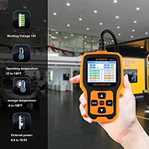 Code Reader, AUTOPHIX OM126 Obdii Obd2 Scanner Vehicle Engine Fault Code Reader Auto Check Engine Light Car Analyzer Automotive Diagnostic Scan Tool - Yellow